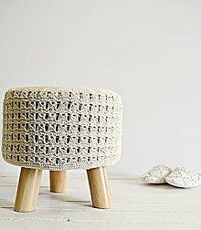 Nábytok - Taburetka s pleteným poťahom - 7980831_