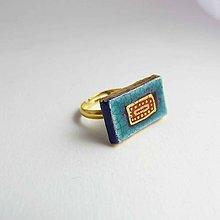 Prstene - Tana šperky - keramika/zlato - 7983719_