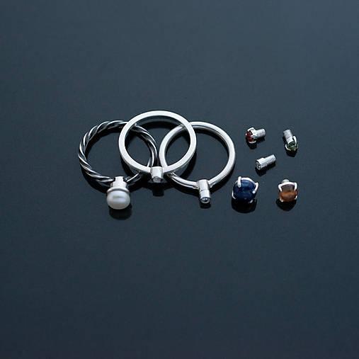 Prstene - Sada prstienkov s meniteľnými kamienkami - 7981101_