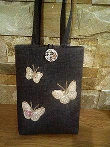 Veľké tašky - Taška SPRING BUTTERFLIES:-) - 7983637_