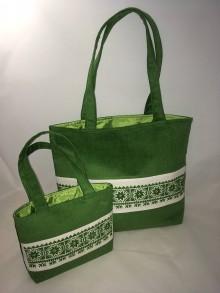 Kabelky - Menčestrové tašky mini + maxi (SET) - 7982172_