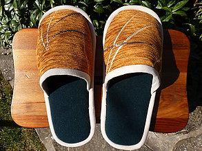 Obuv - Papuče z oranžovej poťahovky - 7981335_