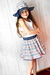 Detské oblečenie - Detská sukňa Folk & Flower - 7983778_