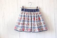 Detské oblečenie - Detská sukňa Folk & Flower - 7983779_