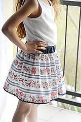 Detské oblečenie - Detská sukňa Folk & Flower - 7983780_