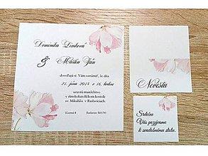 Papiernictvo - svadobné oznámenie flower 01 - 7981215_
