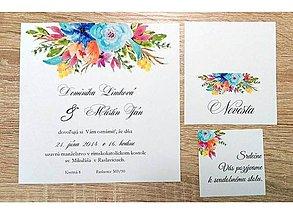 Papiernictvo - svadobné oznámenie flower 02 - 7981226_
