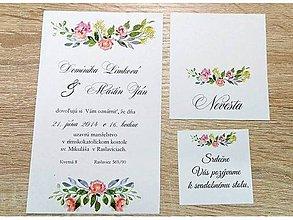Papiernictvo - svadobné oznámenie flower 03 - 7981251_
