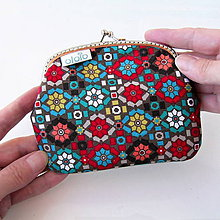 Taštičky - Peňaženka Farebná mozaika - 7981627_