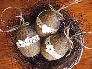 Dekorácie - Vintage veľkonočné vajíčka - sada 3ks - 7982672_