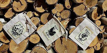 Úžitkový textil - Kolekcia vrecúšok-kohútiky - 7983288_