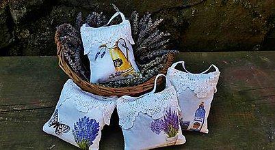 Úžitkový textil - Levanduľové vrecúška - 7983410_