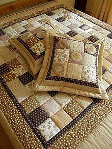 Úžitkový textil - Hnedé tóny - prehoz :) - 7984241_