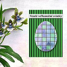 Papiernictvo - Geometrické veľkonočné vajíčko - fľaky a štvorce - 7982864_