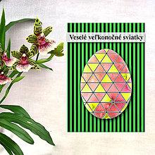 Papiernictvo - Geometrické veľkonočné vajíčko - fľaky a trohuholníky - 7983598_