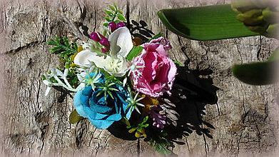 Ozdoby do vlasov - kvetinková sponka - 7986499_