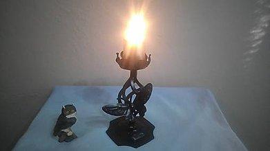 Svietidlá a sviečky - kovový svietnik motýľ - 7987769_