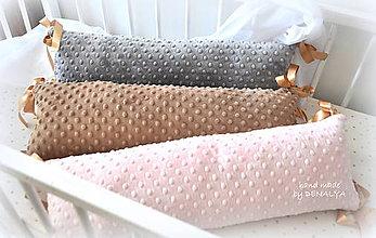 Textil - Vankúšiky 18x60cm s originál minky flisom - 7988758_