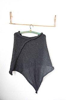 Iné oblečenie - _ALPAKA PoNČo... v tmavosivej... 100% alpaka - 7988948_