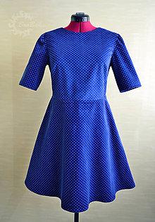 Šaty - Menčestrové šaty s jemnými bodkami - 7987801_