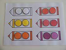 - Montessori priraďovačka - farebné ceruzky - 7986439_
