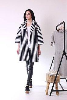 Kabáty - MIESTNy pásik kabát - 7988413_