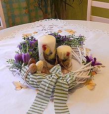 Dekorácie - Venček na stôl / dvere - Fialová fialkka - 7986225_