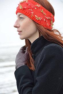 Ozdoby do vlasov - Červená  čelenka - 7986015_