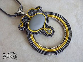 Náhrdelníky - Shiraz - soutache - 7988983_