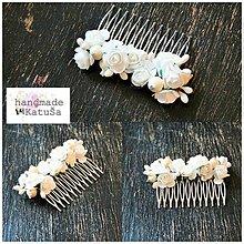 Ozdoby do vlasov - svadobný hrebienok - 7985946_