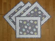 Úžitkový textil - Prestieranie VEĽKONOČNÉ VAJÍČKA 2 - 7985739_