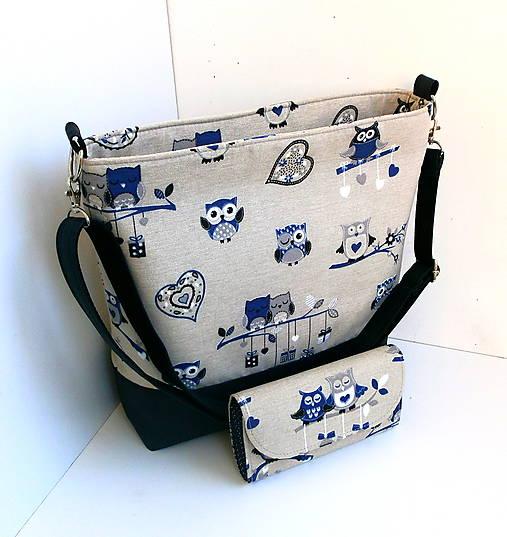 0d19e020a5 Taška - Modrá sovička II   desana - SAShE.sk - Handmade Veľké tašky