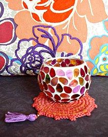 Úžitkový textil - Podšálka  Bohemian Rapsody v oranžovej - 7986040_