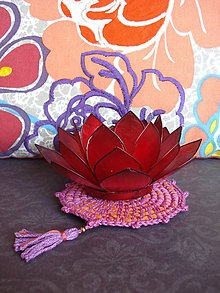 Úžitkový textil - Podtácka - Bohemian Rapsody- ružová - 7986301_