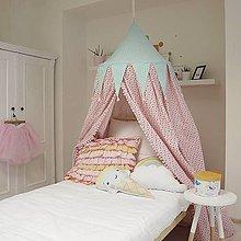 Textil - Ružovo mentolkový baldachýn nad posteľ - 7986111_