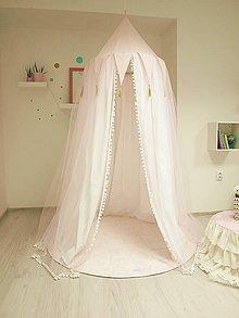 Textil - Ružový baldachýn pre ozajstné princezničky - 7986213_