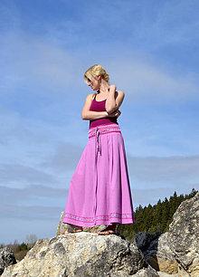 Sukne - Crochet waist skirt -magnolia - 7987658_