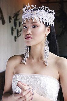 Ozdoby do vlasov - Svadobná perličková korunka - 7984692_