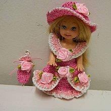 Hračky - Ružové šaty pre princeznú Kelly 10cm - 7984625_
