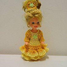 Hračky - Žlté šaty pre princeznú Kelly 10cm - 7984630_