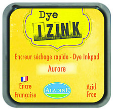 Farby-laky - Rýchloschnúca poduška na pečiatkovanie - IZINK Žltá Aurore - 7988343_