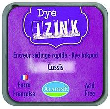 Farby-laky - Rýchloschnúca poduška na pečiatkovanie - IZINK Čierne Ríbezle Cassis - 7988619_