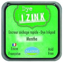 Farby-laky - Rýchloschnúca poduška na pečiatkovanie - IZINK Zelená Menthe - 7988644_