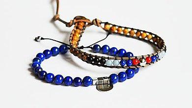 Šperky - Pánska sada BRYXI náramkov z mixu polodrahokamov - 7987352_
