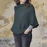 Iné oblečenie - Pončo...tmavozelené - 7988820_