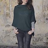 Iné oblečenie - Pončo...tmavozelené - 7988821_