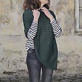 Iné oblečenie - Pončo...tmavozelené - 7988822_