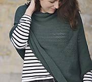 Iné oblečenie - Pončo...tmavozelené - 7988824_