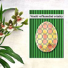 Papiernictvo - Geometrické veľkonočné vajíčko - fľaky a guličky - 7988538_