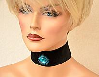 Náhrdelníky - Choker náhrdelník z tyrkysovej rivolky - 7987368_